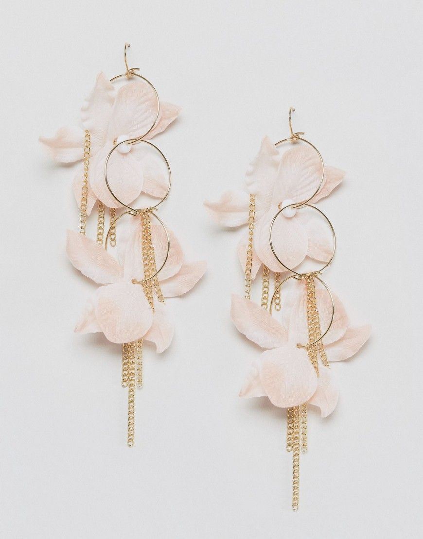 Asos Fabric Flower Hoop Earrings At Asos Com Jewelry Fabric Flowers Asos Jewelry