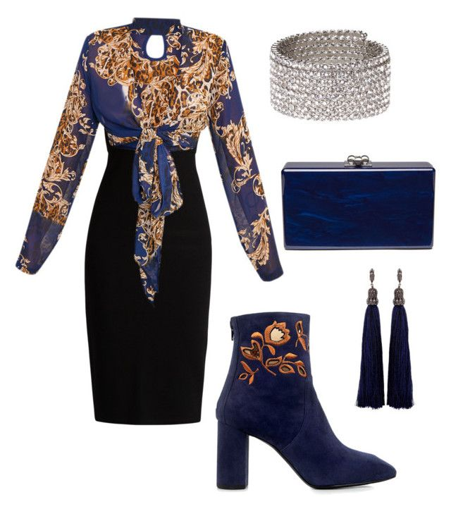 """Midnight Blues"" by kingtowens on Polyvore featuring Edie Parker, MaxMara, Eugenia Kim, Lanvin and ALDO"