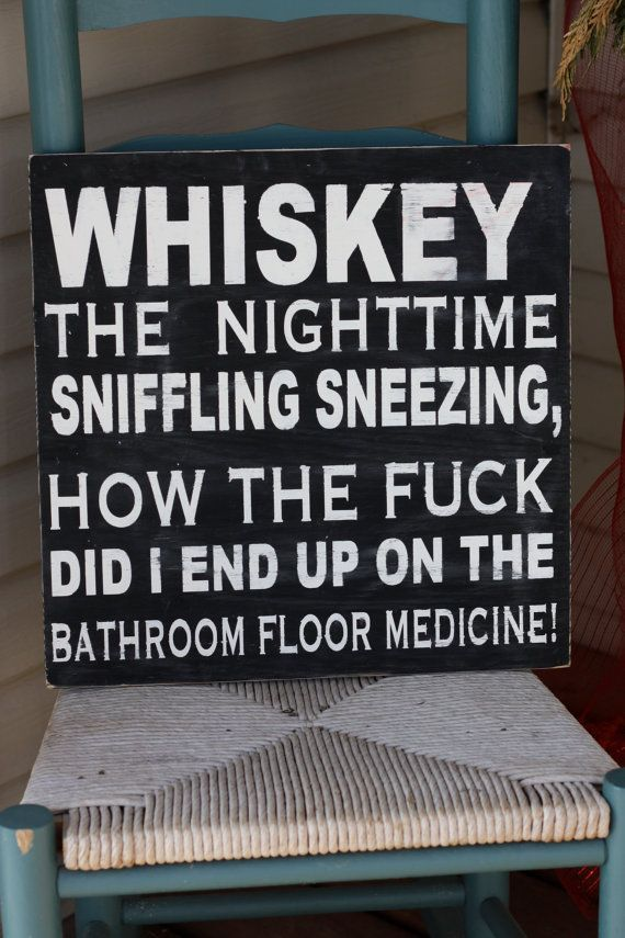 Bar Decor Signs Whiskey Sign Wooden Sign Hand Paintedhome Decorwall Sign