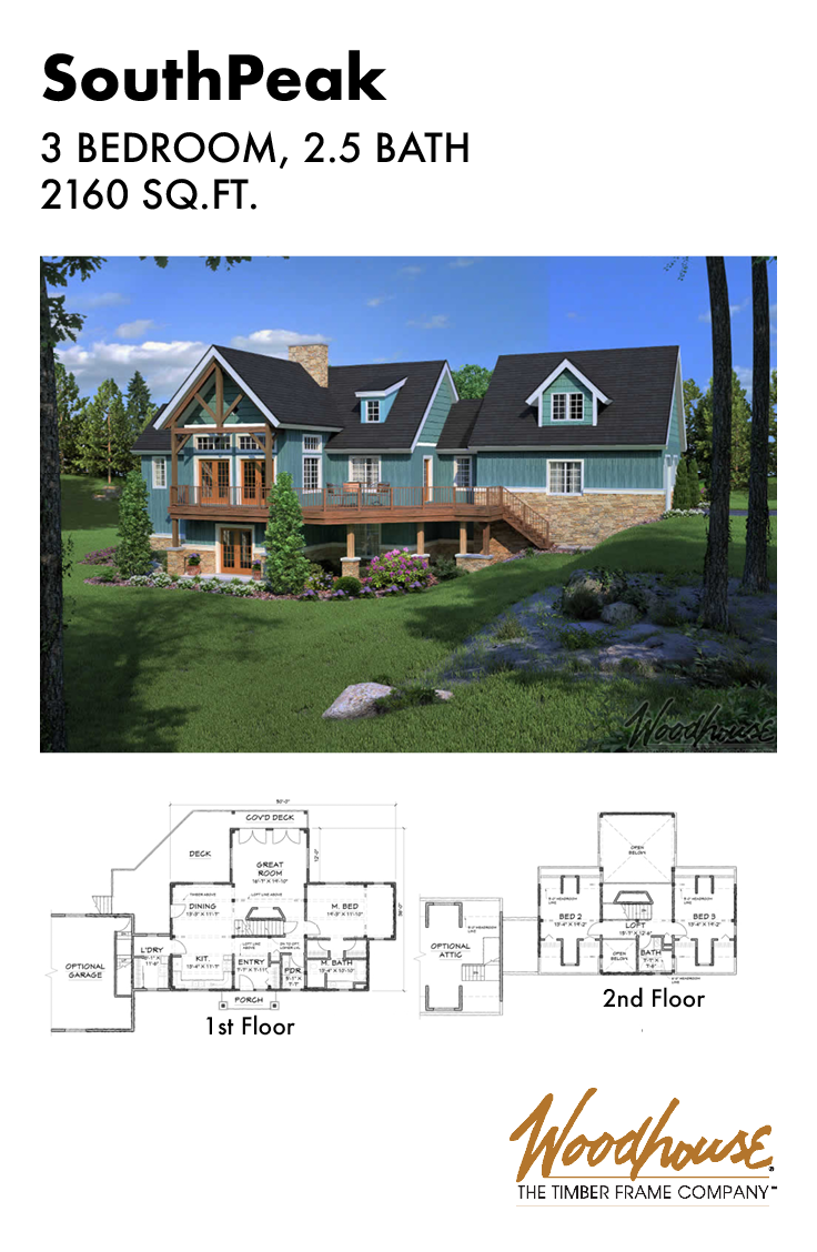 At 1,450 square feet, this timber frame lake home would ...