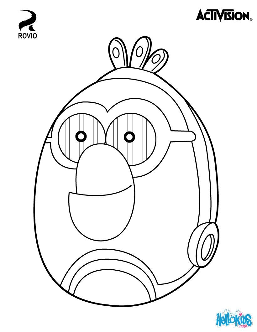 white birdc 3po for angry birds star wars cute coloring page about - Angry Birds Star Wars Coloring Pages