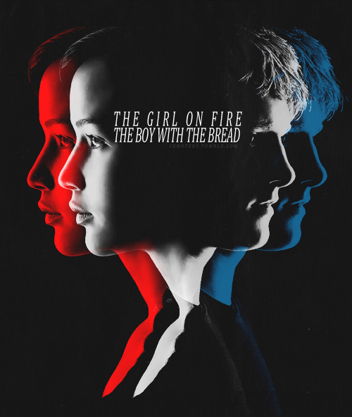 Katniss & Peeta!! Their relationship throughout the trilogy is so intense, romantic, frightful, and mesmerizing