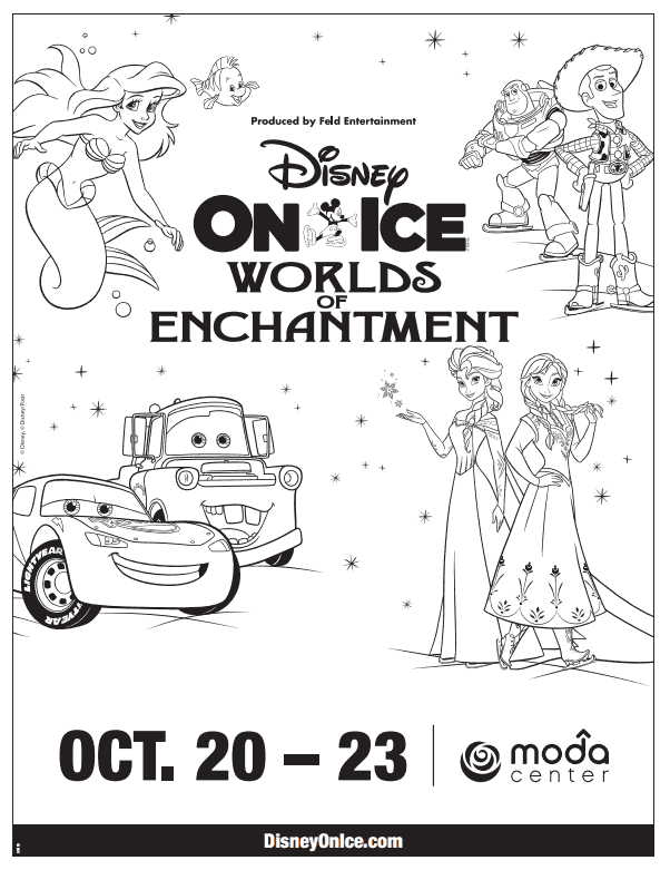 Printable Disney In Ice Worlds Of Enchantment Coloring Page Disney On Ice Coloring Pages Disney