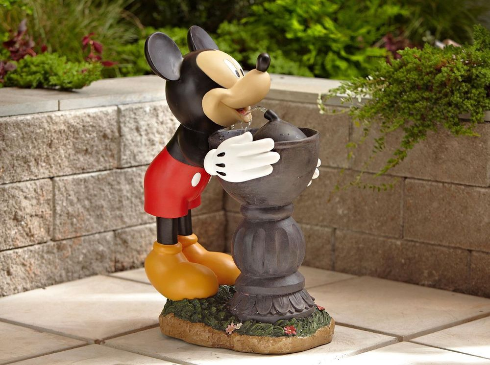 Water Drinking Fountain Mickey Mouse Home Decore Decoration Disney Patio Outdoor