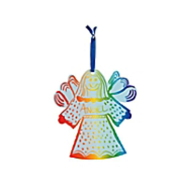 Magic Color Scratch Angel Ornament. You make this angel's gown colorful! Just scratch designs onto her dress with a scratching tool then hang these Magic Color