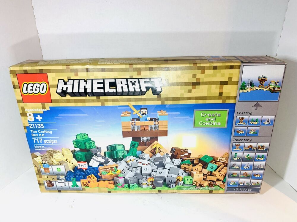 New Lego 21135 Minecraft The Crafting Box 2 0 717 Pcs Age 8 Minecraft Playing Game Crafts Lego Minecraft