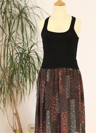 Kleid schwarz / bunt Gr. XS, NEU