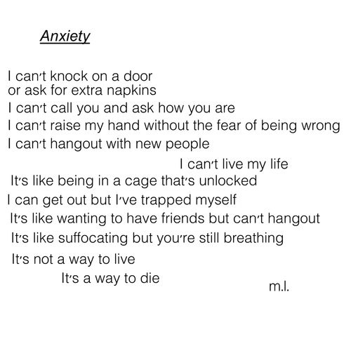 Social Anxiety Poems 5