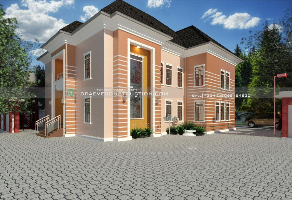 6 Bedroom Luxury Duplex House Plan Duplex House House Paint Exterior House Plans
