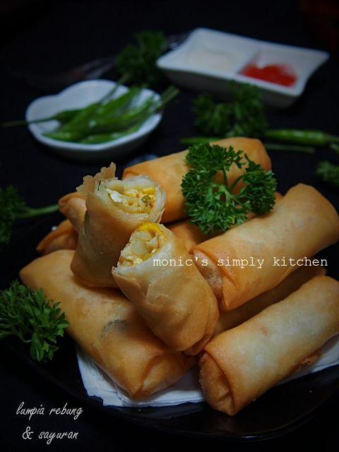 Lumpia Rebung Wortel Sayuran Resep Masakan Indonesia Makanan Dan Minuman Sayuran