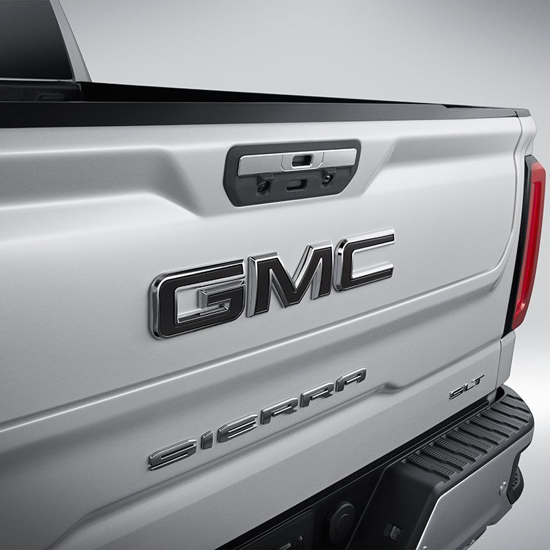 2020 Sierra 1500 Black Gmc Emblems Front Grille And Multipro Tailgate 84364354 In 2020 Gmc Accessories Sierra 1500 Gmc