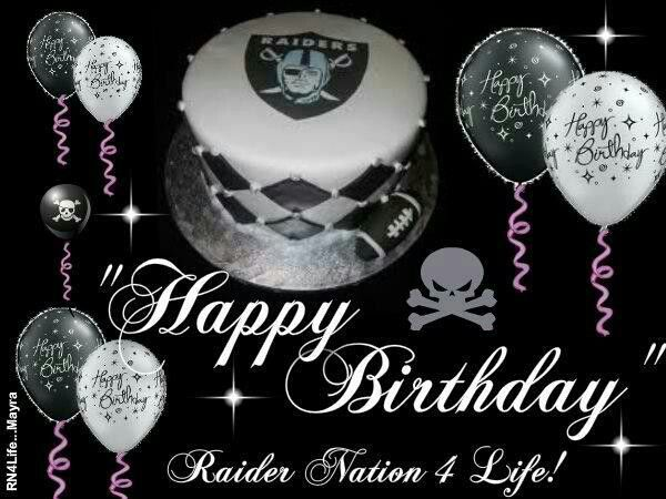 Pin By Helen Williams On Bday Oakland Raiders Images Raiders Fans Raiders Stuff