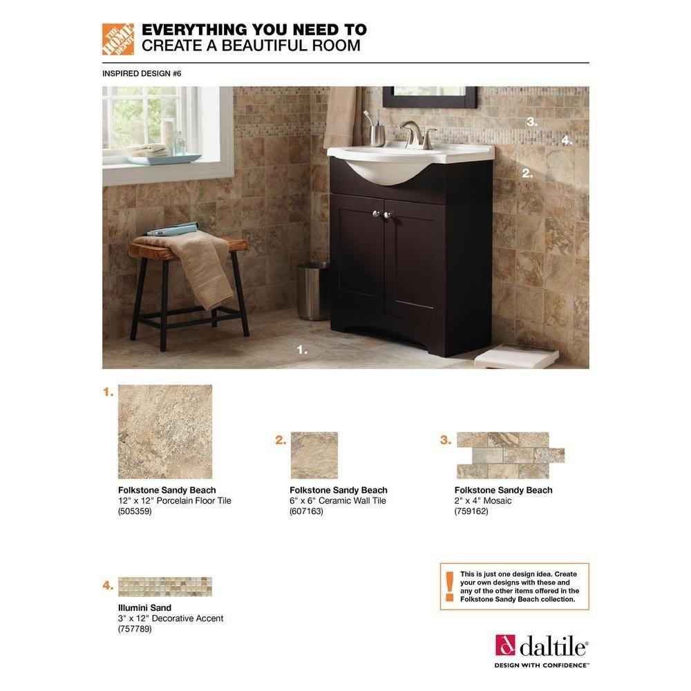 Decorative Accent Ceramic Wall Tile Mesmerizing Daltile Fashion Accents Sand 3 Inx 12 In8 Mm Illumini Accent Design Inspiration