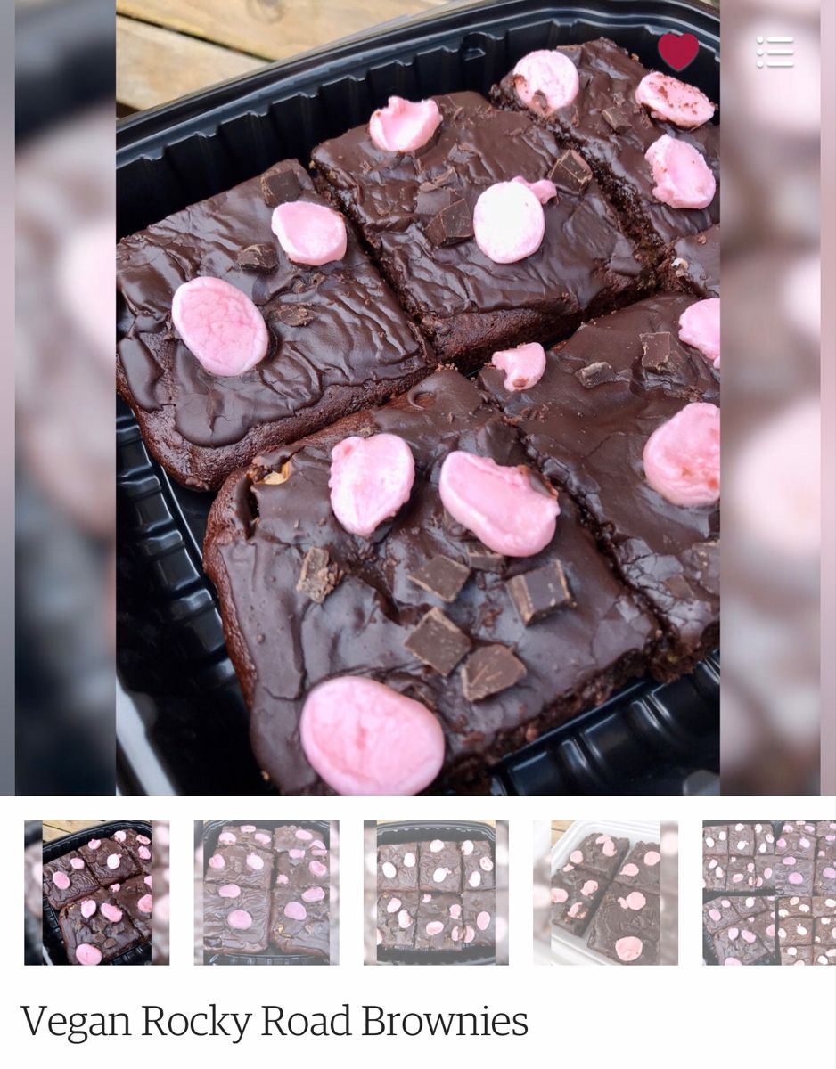 Vegan Rocky Road brownies