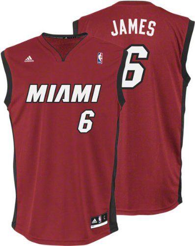 6bbf22eba8c ... LeBron James Kids 4-7 Jersey adidas Red Replica 6 Miami Heat Jersey ...