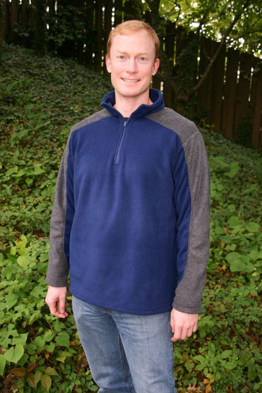 Men\'s Sierra Fleece Quarter Zip Pullover PDF Sewing Pattern by ...