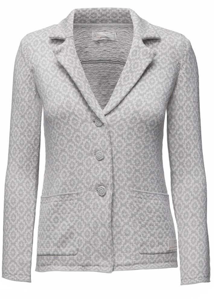 Odd Molly Blazer grå mønstret - Flawless Blazer 816M-103 light grey melange – Acorns