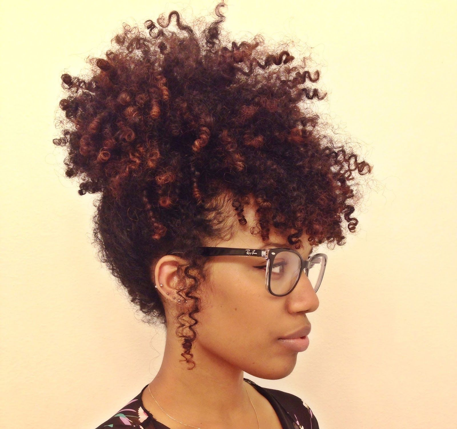 Easy Pineapple Updo For Natural Hair Curly Nikki Natural Hair - Short hairstyles with curls