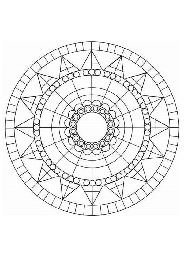 Coloriage De Mandala Geometrique Parfait Pour Amuser Les Enfants Ou Detendre Les Adultes A Imprimer Coloriage Mandala Coloriage Mandala A Imprimer Coloriage