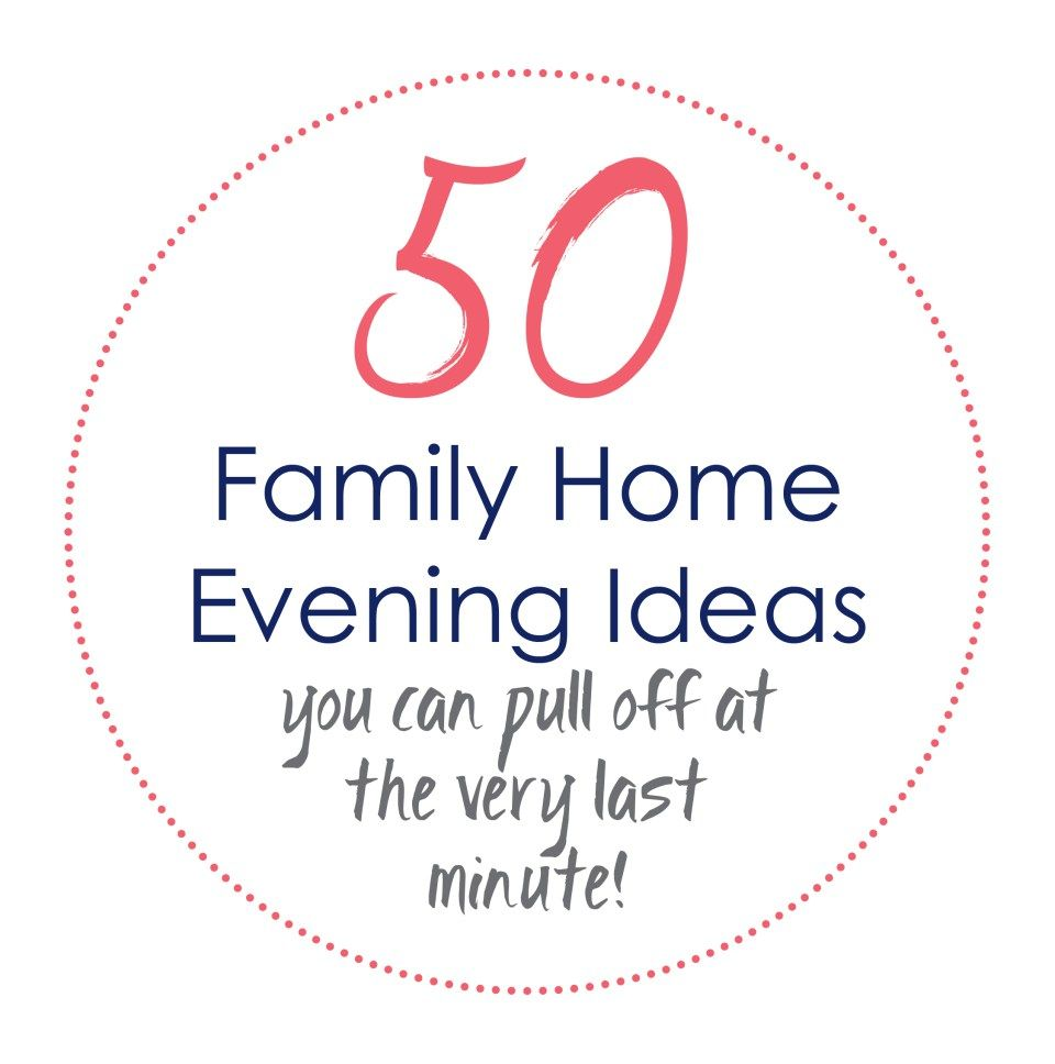 Amazing Family Home Evening Ideas For Couples Adornment - Home ...