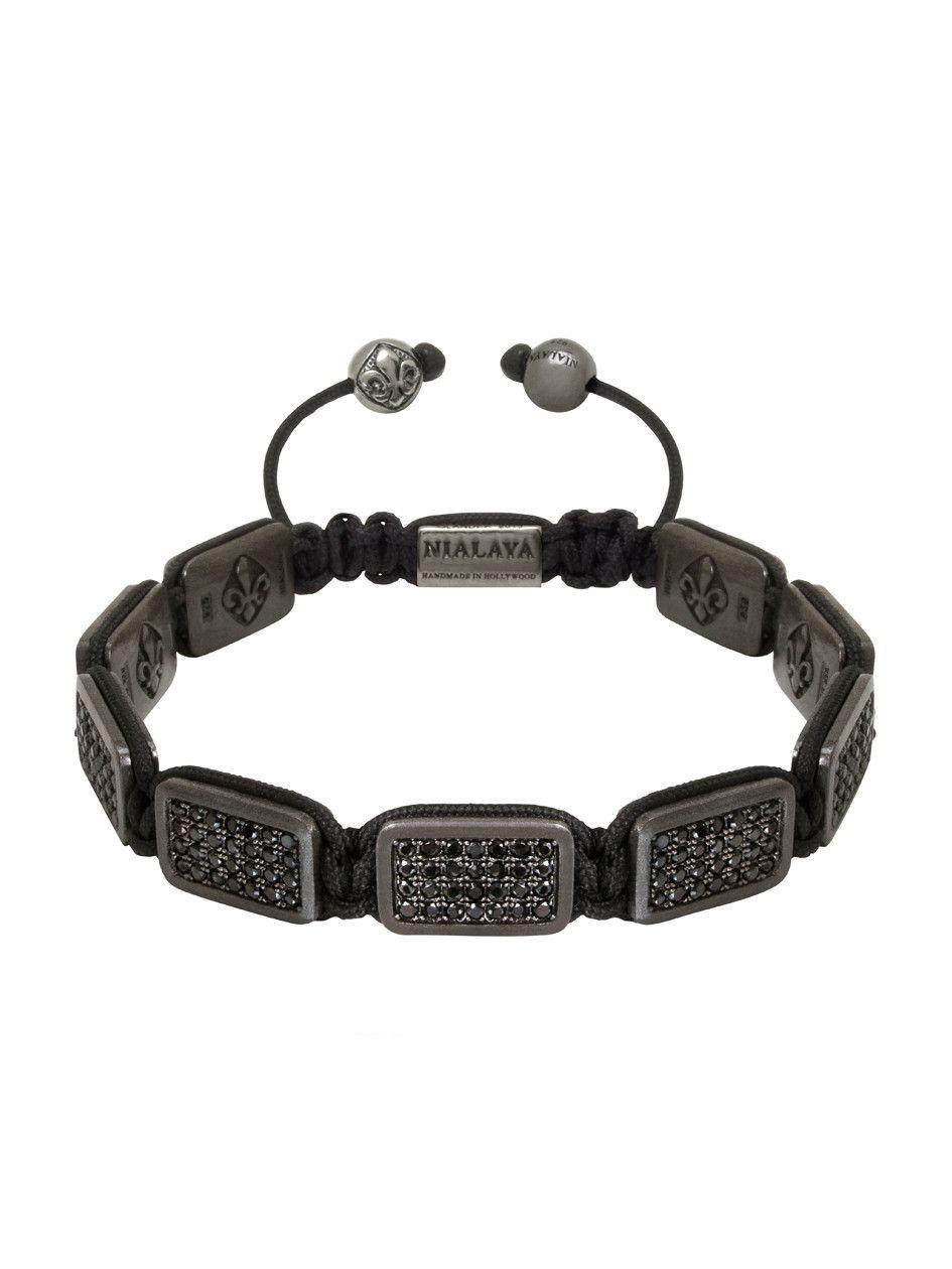 Nialaya Flatbead bracelet - Black UIIYrDNT