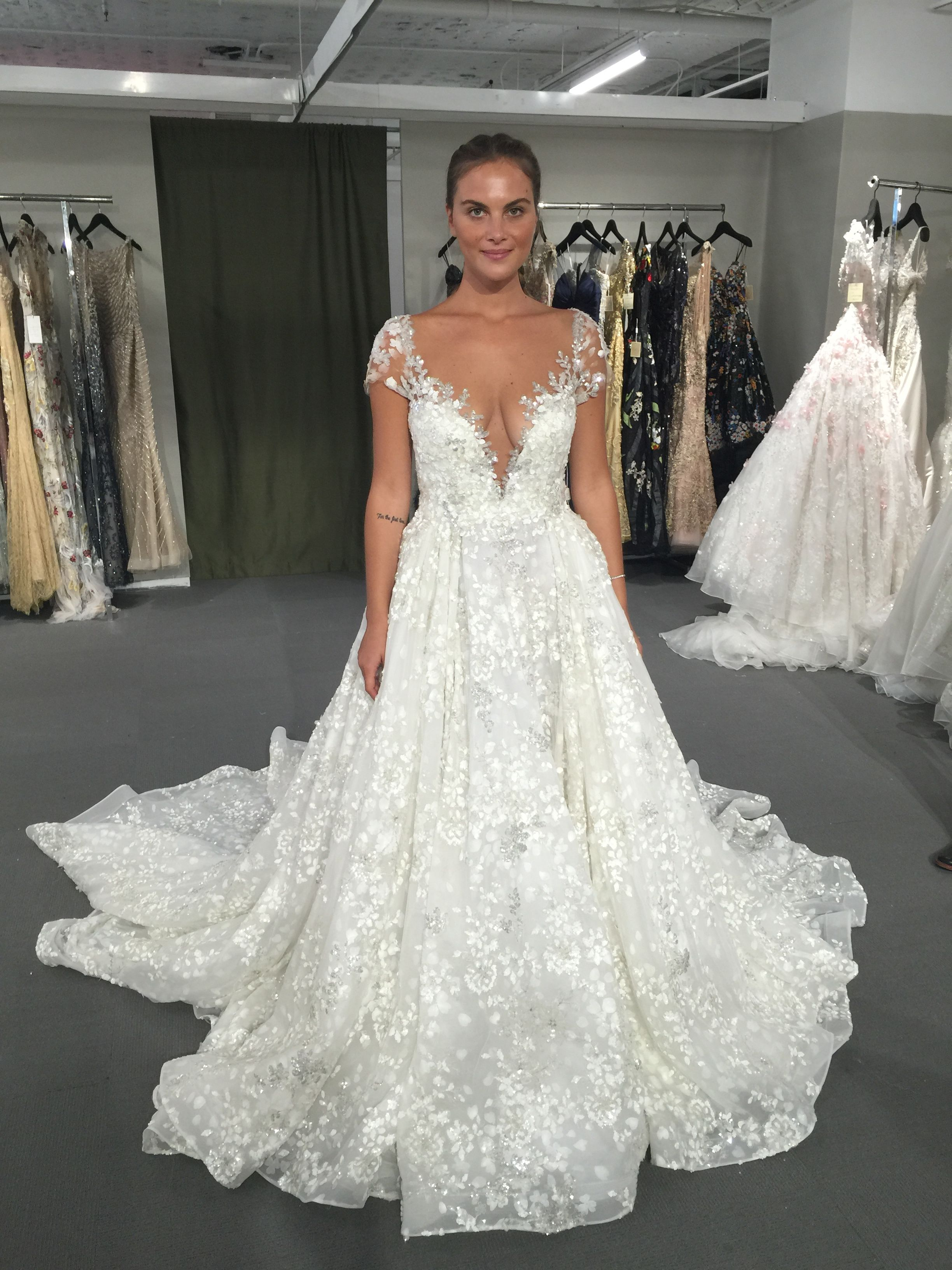 82b3dafe101f0f Ysa Makino FAll 2017 wedding dress available at Dimitra s Bridal Couture in  Chicago. www.DimitrasBrida...  sparkle  glamorous  bride  engagementring ...
