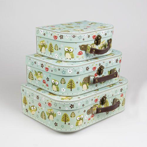 Vintage Floral Suitcases Set Of 3 Storage Boxes Choice Of School Suitcase Box & Vintage Floral Suitcases Set Of 3 Storage Boxes Choice Of School ...