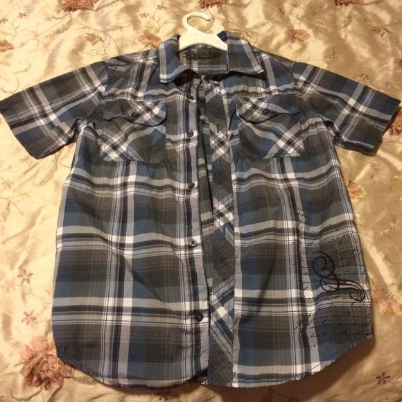 Helix boy shirt Good condition size large (fits10-12),55% cotton,45%polyester Shirts & Tops Button Down Shirts