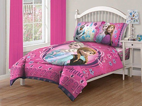 New Disney Frozen Anna And Elsa 3 Piece Twin Size Comforter Set Northwest Http