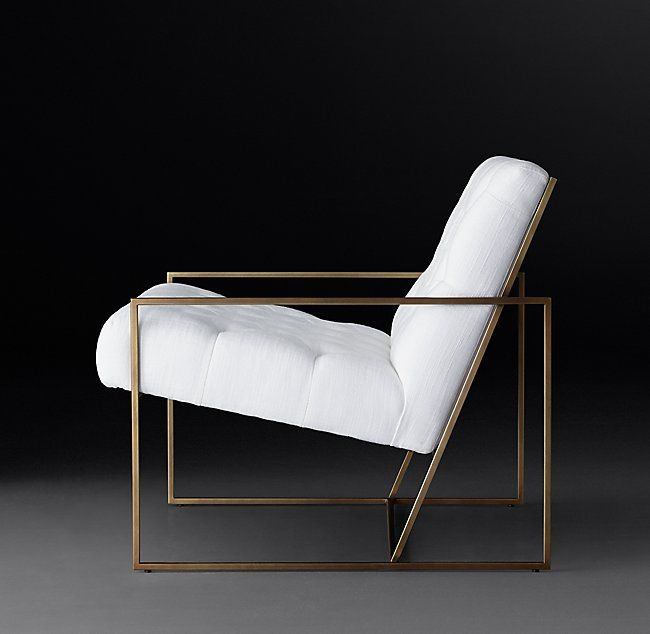 RH Modernu0027s Marsden Tufted Fabric Chair:Inspired By The Simple Geometric  Sculptures Of Artist Sol