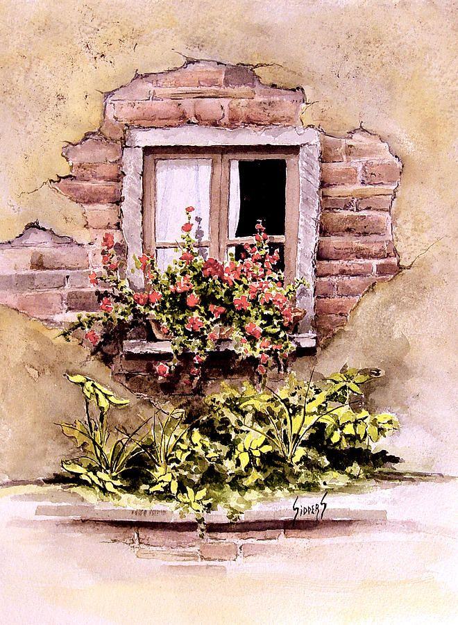 Window Flowers By Sam Sidders In 2020 Window Art Painting