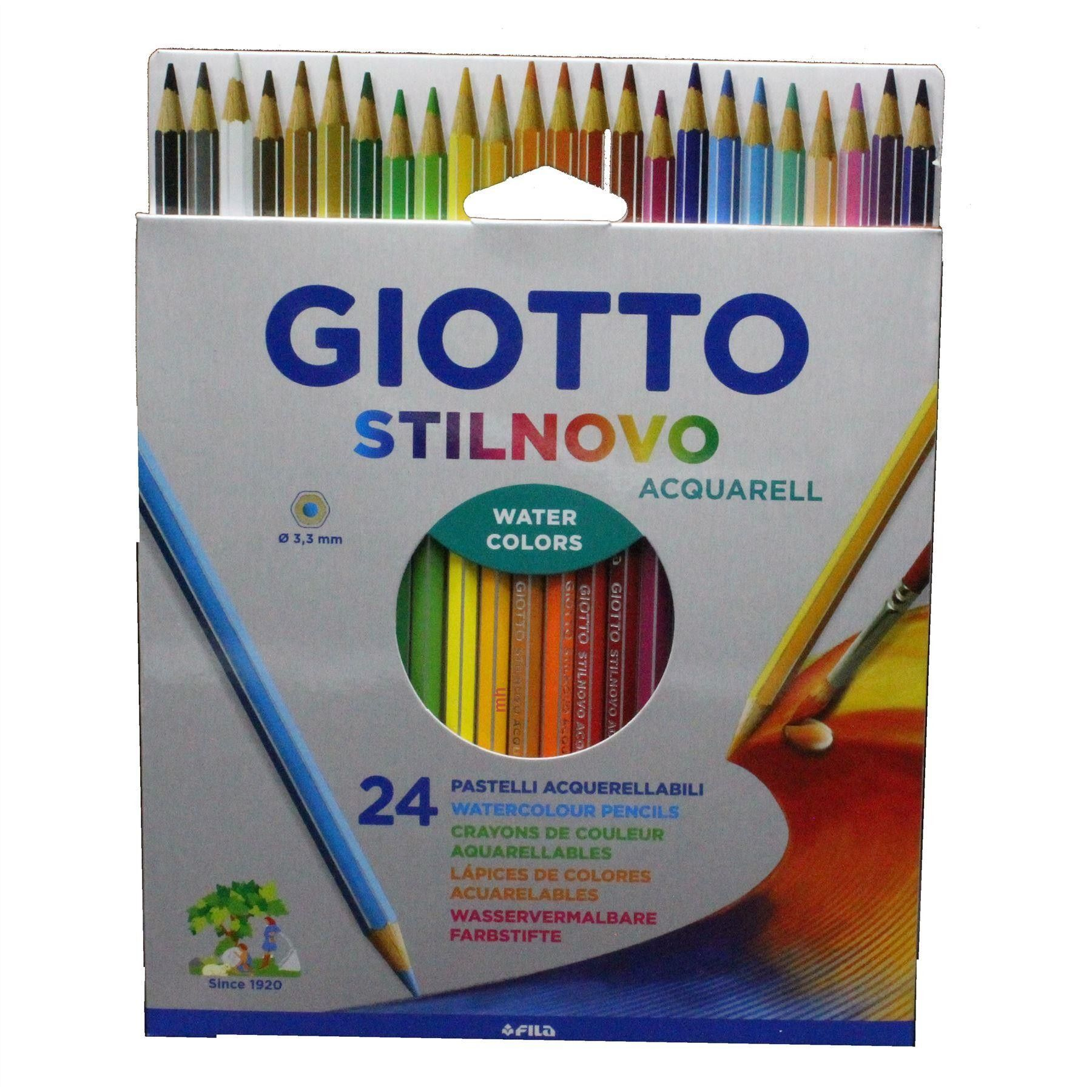 Fila Giotto Stilnovo Watercolour Pencils Sets 12 24 Or 36