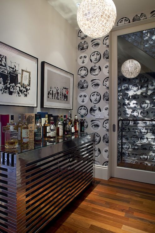 Artistic Designs for Living: Contemporary bar space with