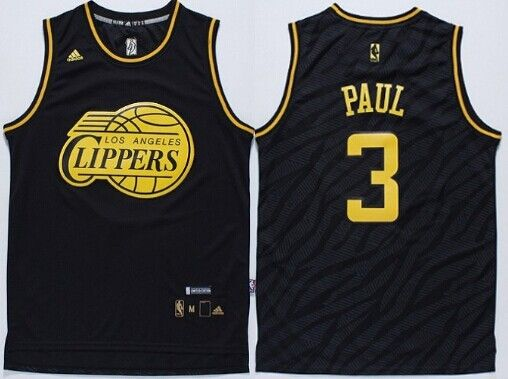 los angeles clippers 3 chris paul revolution 30 swingman 2014 black with gold jersey