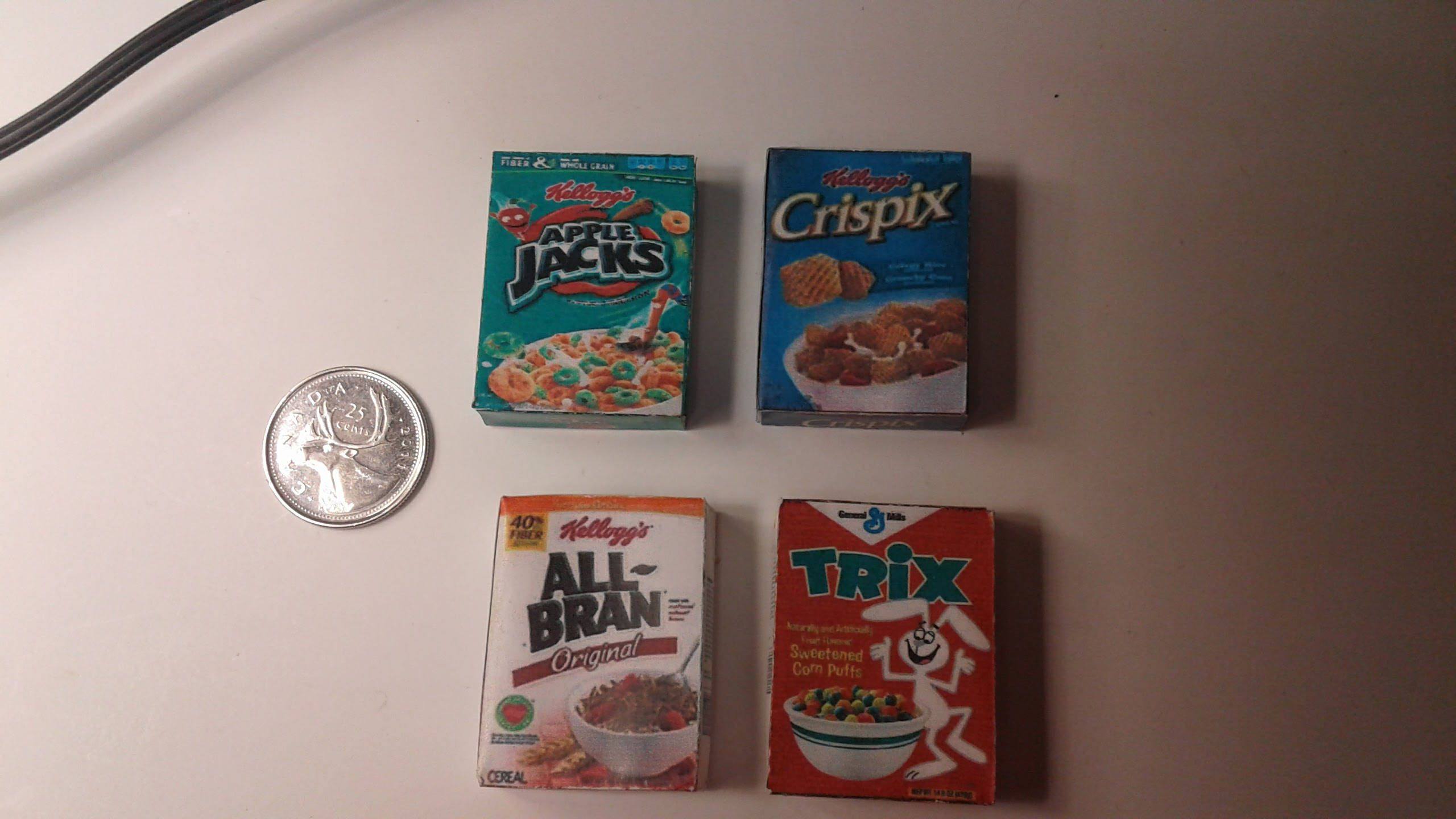 Dollhouse Miniature Well Known Breakfast Cereal by Cindi/'s Mini/'s