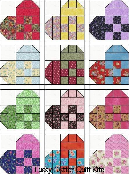 Now that the Scrappy Patchy Ribbon Heart quilt top is done for my ... : heart quilt block patterns - Adamdwight.com