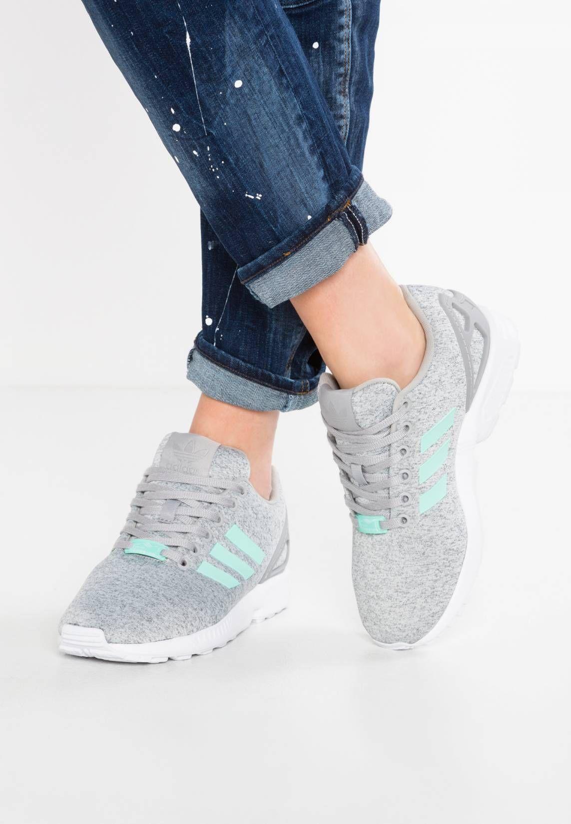 f4f6f84bf adidas Originals. ZX FLUX - Trainers - medium grey heather easy mint white