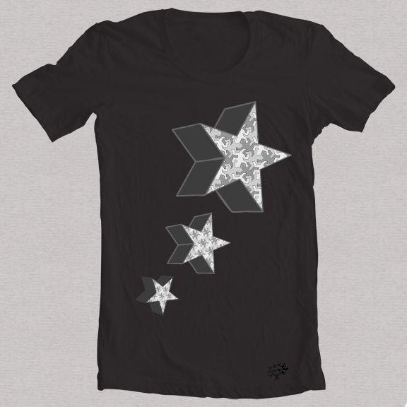 Camiseta negra estrella 3