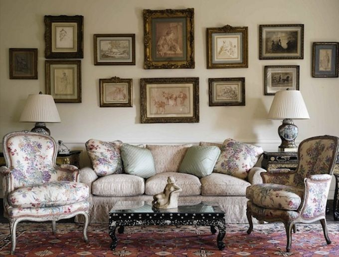 Like English country, this style combines colorful patterns like ...