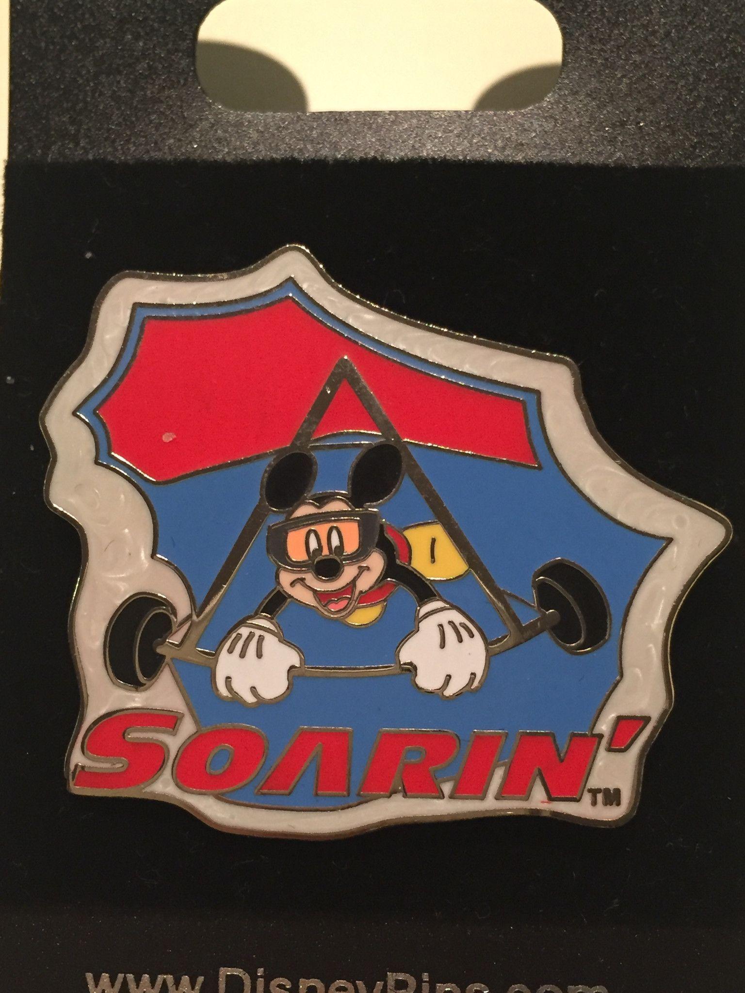 Mickey Rides Soarin Pin With Images Disney Lanyard Disney Designs Disney Pins