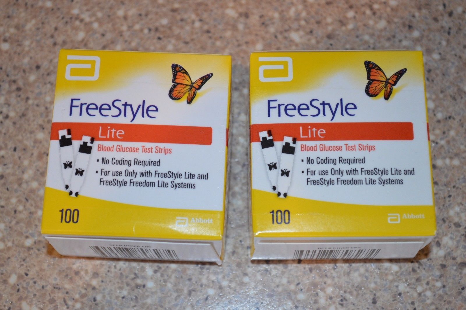 New 200 2 boxes of 100 freestyle lite diabetic test strips new 200 2 boxes of 100 freestyle lite diabetic test strips aloadofball Image collections