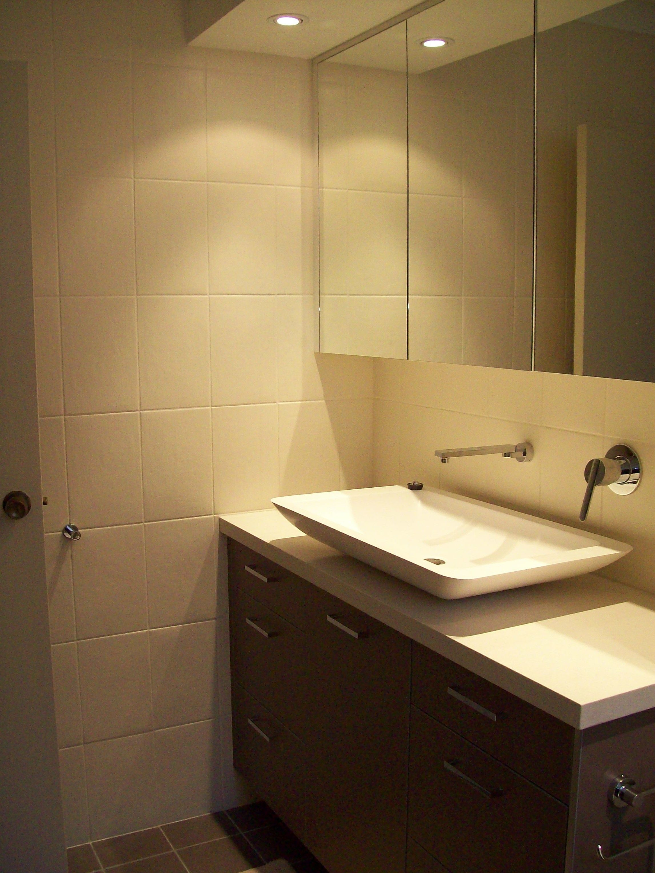 Bathroom renovations hornsby - Vanity Shaving Cabinet And Recessed Lighting