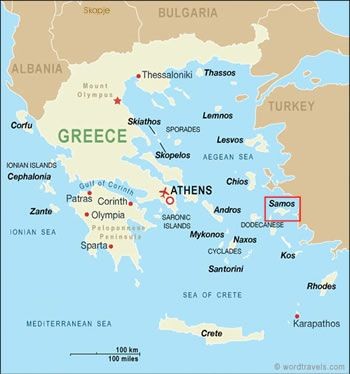 Greek islands map Greek Islands Pinterest Greek islands map