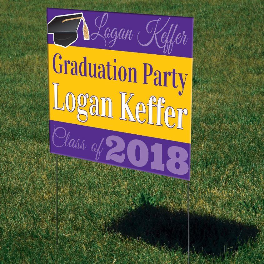 Graduation Mortar Board Personalized Yard Sign Yard Signs