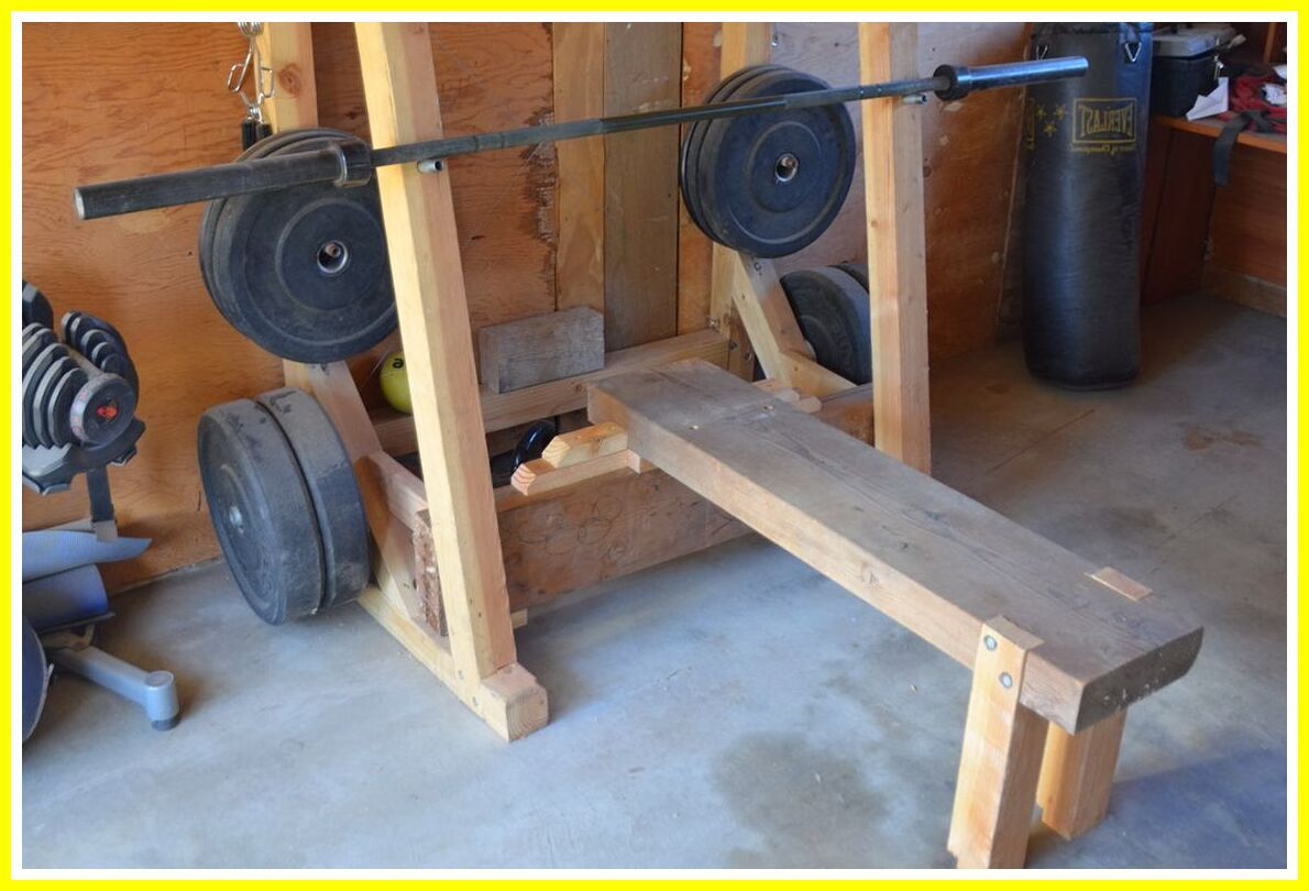 42 Reference Of Rack Madera Bench In 2020 Diy Home Gym Gym Rack Weight Rack