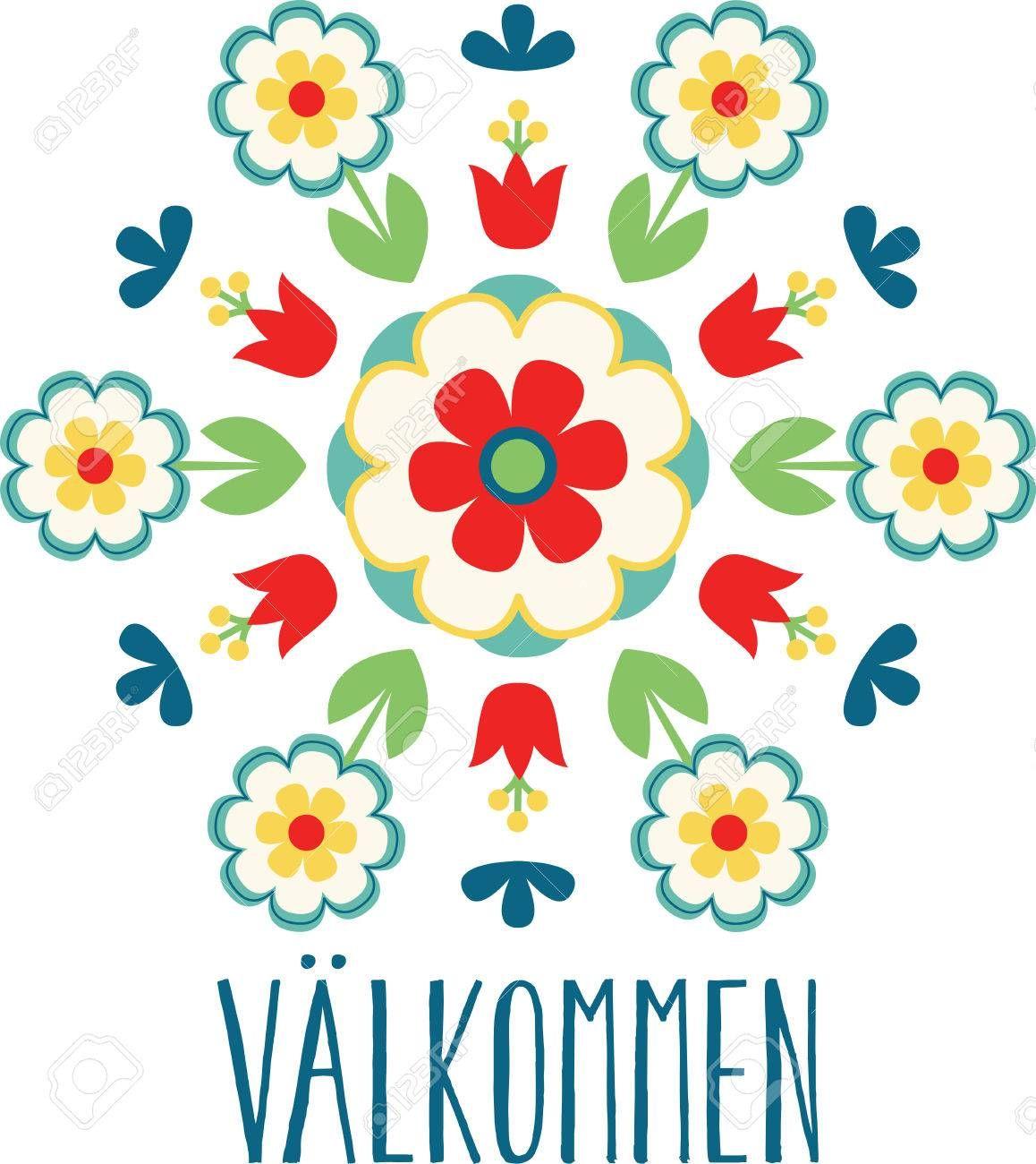 Use This Versatile Traditional Scandinavian Swedish Decorative Scandinavian Folk Art Folk Art Decor Folk Art Flowers
