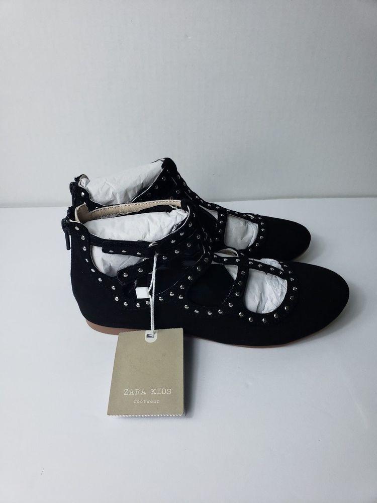 NEW Zara Kids Footwear Girls Dress Shoes Black Studded Back Zip Size 12  Formal  fashion  clothing  shoes  accessories  kidsclothingshoesaccs   girlsshoes ...