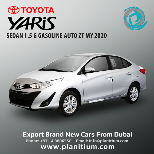 Export 2020 Toyota Yaris Sedan Gasoline Cars From Dubai Uae In 2020 Yaris Toyota Sedan