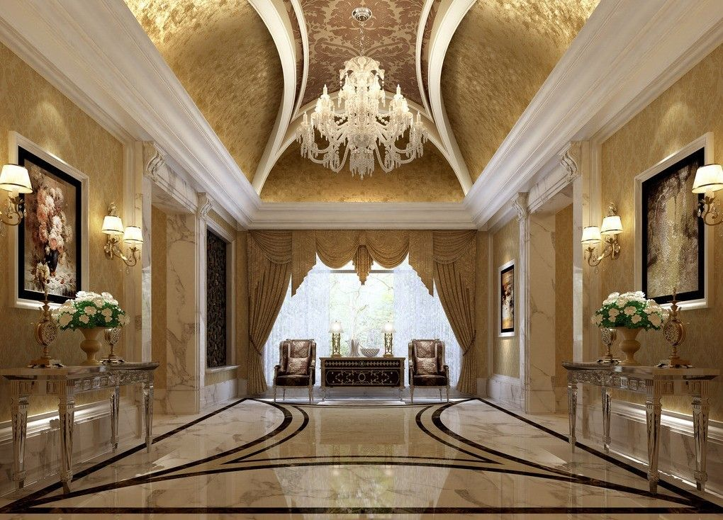 Luxury Hotel Interior Design luxurious-hall-hotel-interior-design-3d-3d-house-free-3d-house