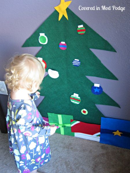 Felt Wall Christmas Tree Tutorial Christmas Advents Pinterest